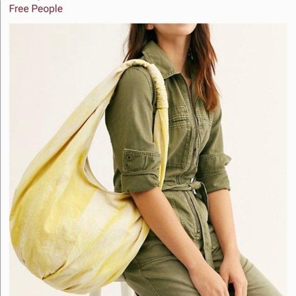 Free People Handbags - Free People Sunny Yellow Hobo Bag